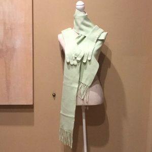 LOFT scarf and matching gloves